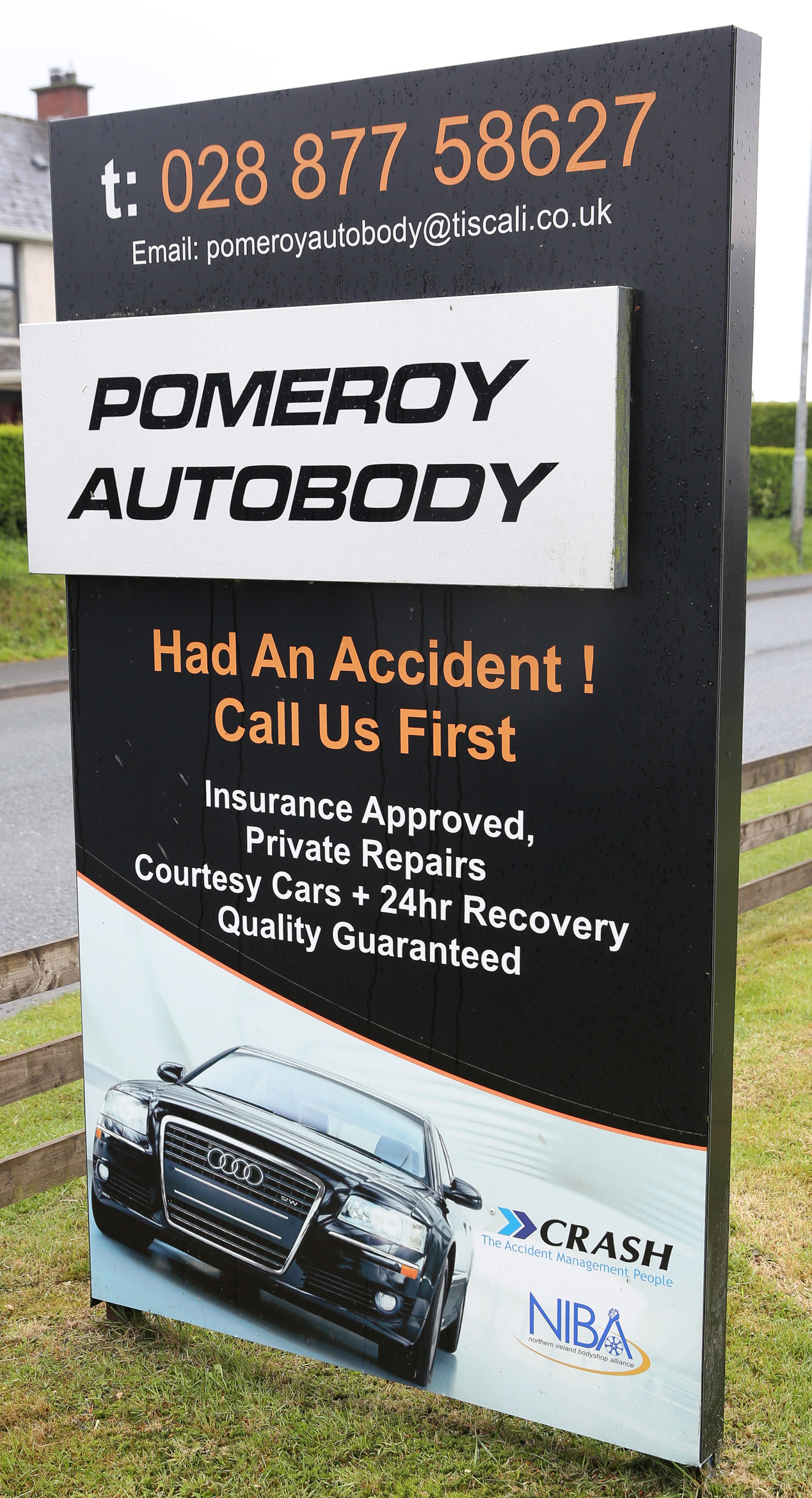 pomery autobody billboard